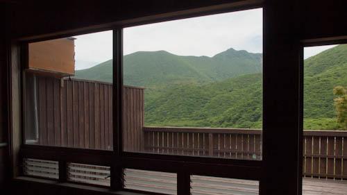 風呂場から眺める景色